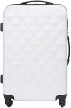 Mellem kuffert - Diamant Hvid hardcase kuffert - Eksklusiv rejsekuffert