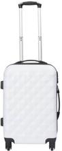 Kabinekuffert - Diamant Hvid hardcase kuffert - Eksklusiv rejsekuffert