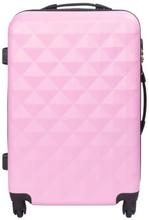 Mellem kuffert - Diamant lyserød hardcase kuffert - Eksklusiv rejsekuffert