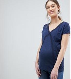 Mama.licious Short Sleeve T-Shirt - Black iris