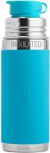PuraSport™ ISO-Flasche 260ml - BigMouth™ Aufsatz (inkl. Silikonüberzug) - Blue Swirls