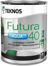 Teknos Lackfärg Futura Aqua 40 Vit 0,9L
