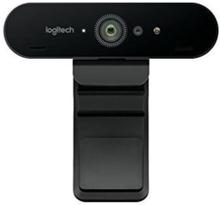Webcam Logitech BRIO 4K Ultra HD RightLight 3 HDR Zoom 5x Streaming Infrarød Sort