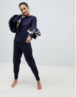 Ted Baker - Ted Says Relax Jersey joggingbyxor - Marinblå
