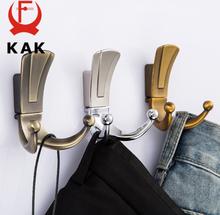 KAK Fashion Bathroom Wall Hangers 2 Hooks Robe Coat Wall Hooks Wall Mounted Clothes Hanger Racks with screws Furniture Hardware