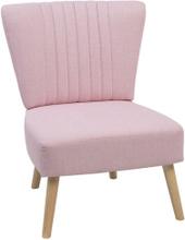 Nojatuoli kankainen vaaleanpunainen VAASA