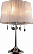 Design By Grönlund Bordslampa Crystal Vit / Krom