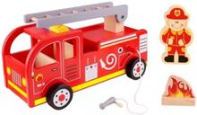 Tooky Toy - Stor Brandbil I Trä