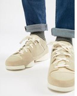 Clarks Originals - Tregenic Evo - Sneakers i mocka - Vit