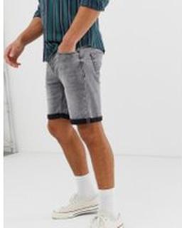 Only & Sons denim shorts in grey wash - Grey denim