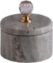 Svensk Marmor Förvaringsask Mässing Crystal Blue