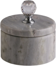 Svensk Marmor Förvaringsask Silver Crystal Blue