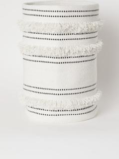 H & M - Skittentøyskurv i bomull - Hvit