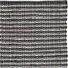 Handgjord matta - Home - Svart/Vit - Handvävd bomull - 135x195 cm
