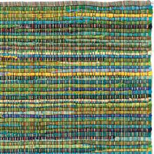 Handgjord matta - Home - Grön - Handvävd bomull - 135x195 cm