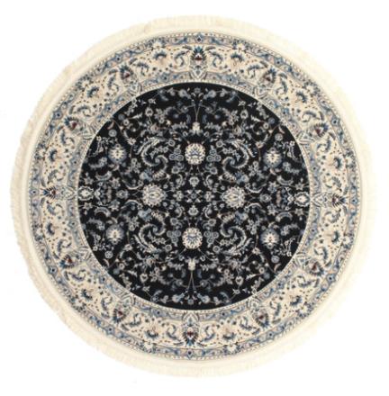Nain Florentine - Mörkblå matta Ø 200 Orientalisk, Rund Matta