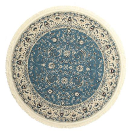 Nain Florentine - Ljusblå matta Ø 200 Orientalisk, Rund Matta
