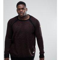 Duke King Size Raglan Sleeve Sweatshirt - Black