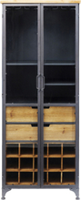 KARE DESIGN Refugio vinskab - stål/natur træ, m. 2 glaslåger