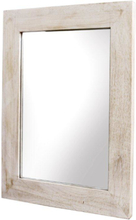 Spegel flat 40x50 cm - Whitewash