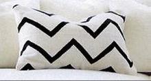 Medina kudde med dunfyllning - Vit/Blå