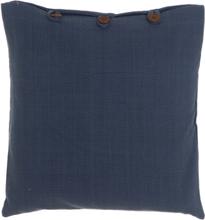 Juster prydnadskudde - Jeansblå/knappar