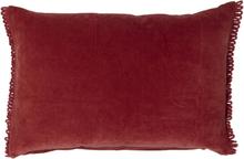 Cali prydnadskudde 40x60 cm - Mörkröd sammet