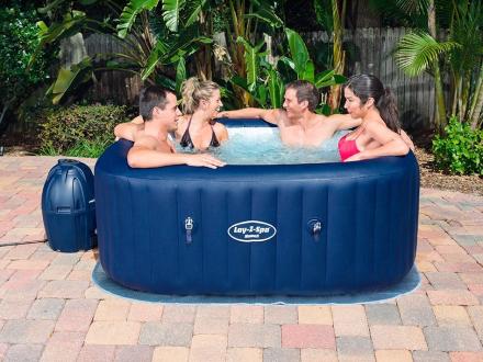 Udendørs Spabad Blå Lay-z-spa Hawaii
