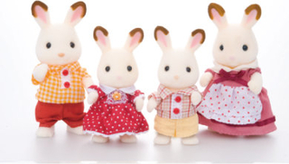 Sylvanian Families Familien - Kanin familien Chokolade