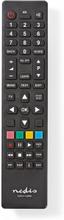 Universal fjernbetjening | Programmerbar | Antal enheder: 2 | Klar layout | Infrarød | Sort