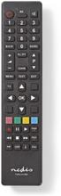 Universal fjernbetjening | Programmerbar | Antal enheder: 1 | Klar layout | Infrarød | Sort