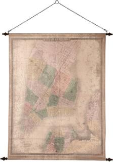 Väggdekoration - New York old map