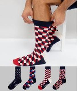 Happy Socks Gift Set 4 Pack Socks - Multi