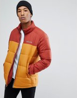 Columbia Pike Lake Puffer Jacket in Red/Gold - Rusty canyon gold