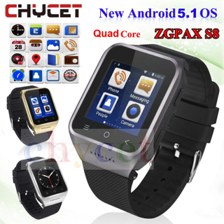 ZGPAX S8 Smart watch Android 5.1 Bluetooth Wifi 3G Smartwatch GPS Tracker Men Women Watch Smart For Android Phone Watches