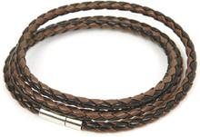 Konstläderarmband Gary svartbrunt