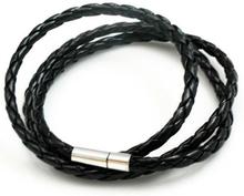 Konstläderarmband Gary svart