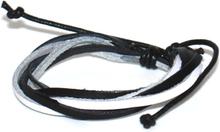 Läderarmband Dave svartvitt
