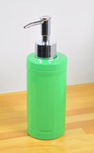 Tvålpump/diskmedelspump. Färg: Grön. Höjd 19 cm.
