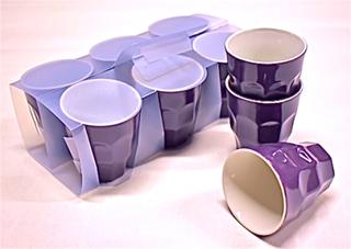 Kaffemuggar i sexpack från Serholt. Muggarna är tillverkade i stengods. Mått höjd 9 cm dia. 8 cm.