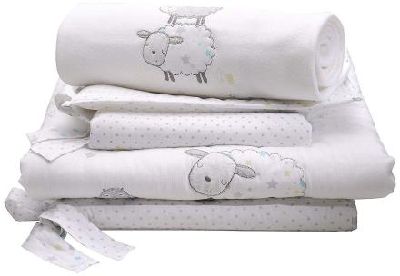 East Coast Silvercloud tælle får 3 stykke Baby sengetøj sæt - Fruugo