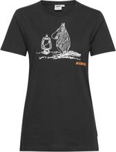 T-Shirt Our Sea T-shirts & Tops Short-sleeved Svart Mumin