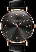 AMBASSADOR -Heritage 1863- Black Leather Strap