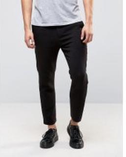 Weekday Arvid slim fit tailored trouser in black - Black