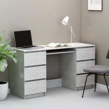 vidaXL Skrivebord betonggrå 140x50x77 cm sponplate