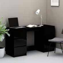 vidaXL skrivebord 140x50x77 cm spånplade højglans sort