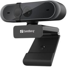 Sandberg USB Webcam Pro - Full HD - 1920 x 1080 - indbygget stereomikrofon - USB 2.0