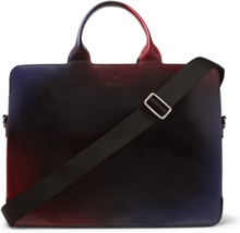 Profil 3 Venezia Leather Briefcase - Black