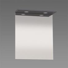 Spegel med ramp Källa / Ramsnäs 600 mm, Grå högblank, 600 mm