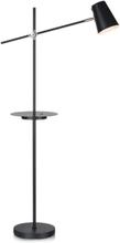 Linear golvlampa med USB - Svart